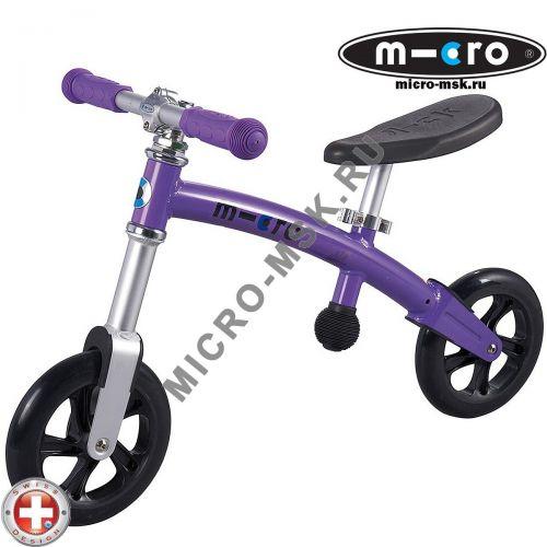Беговел Micro G-bike+light purple (Микро Джи-Байк плюс Лайт сиреневый)