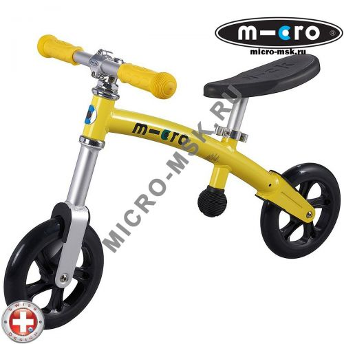 Беговел Micro G-bike+light yellow (Микро Джи-Байк плюс Лайт желтый)