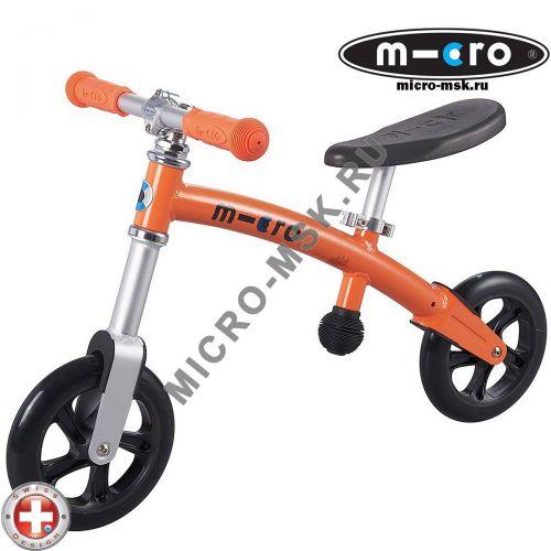 Беговел Micro G-bike+light orange (Микро Джи-Байк плюс Лайт оранжевый)
