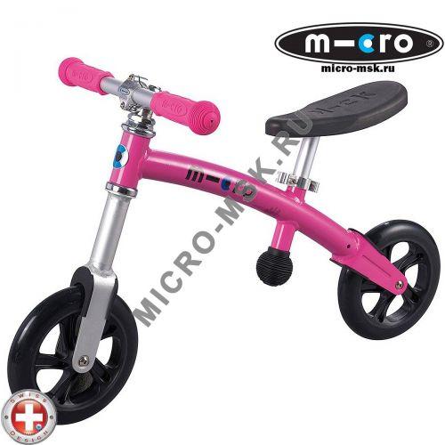 Беговел Micro G-bike+light pink (Микро Джи-Байк плюс Лайт розовый)