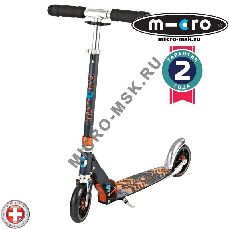 Самокат Micro scooter Speed + black (Микро скутер Спид плюс черный)