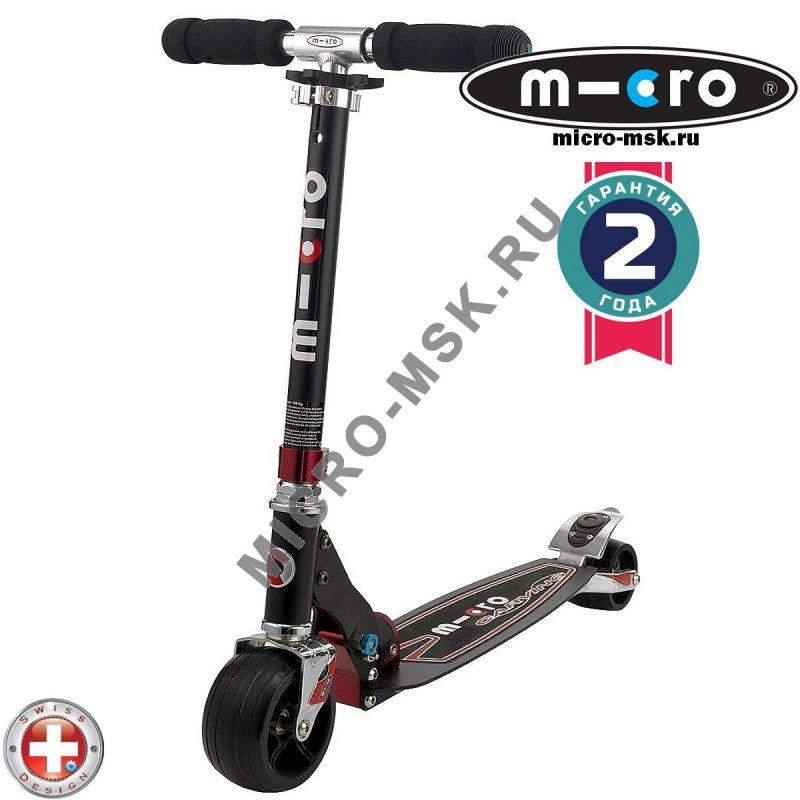 Самокат Micro scooter Monster Bullet black (Микро скутер Монстр Буллет черный)