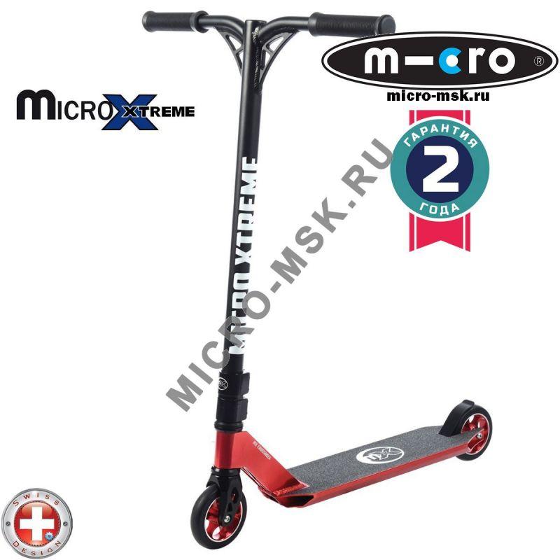 Самокат трюковой Micro MX Crossneck red