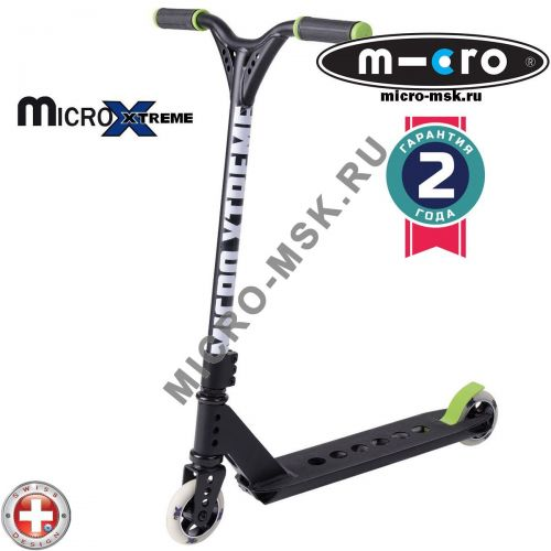 Трюковой самокат Micro MX Trixx black-green