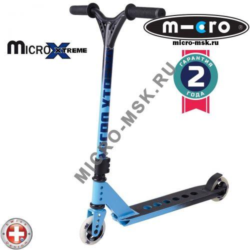 Трюковой самокат Micro MX Trixx black-blue