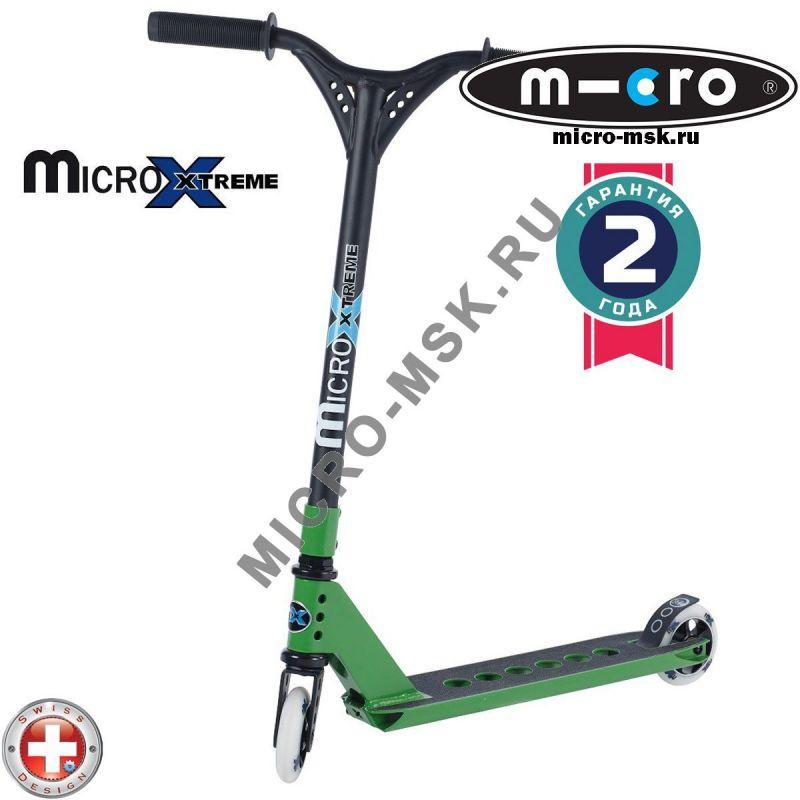 Трюковой самокат Micro MX Trixx green