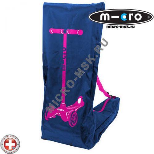 Чехол Micro blue-pink для переноски самоката Mini Micro