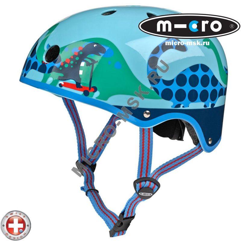 Защитный шлем Micro Dino light blue размер S (48-53cm)