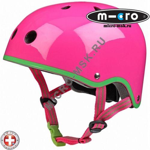 Защитный шлем Micro pink neon размер M (53-58cm)