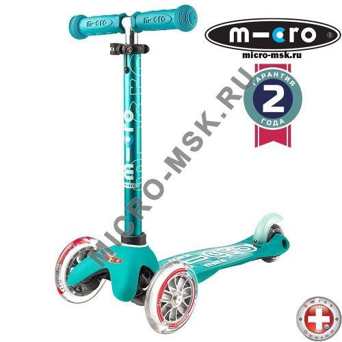 Самокат трехколесный Mini Micro Deluxe aqua (Мини Микро Делюкс аква)