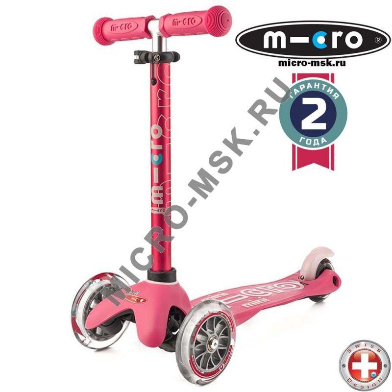 Самокат трехколесный Mini Micro Deluxe pink (Мини Микро Делюкс розовый)