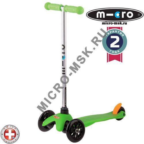 Самокат трехколесный Mini Micro Sporty green (Мини Микро Спорти зеленый)