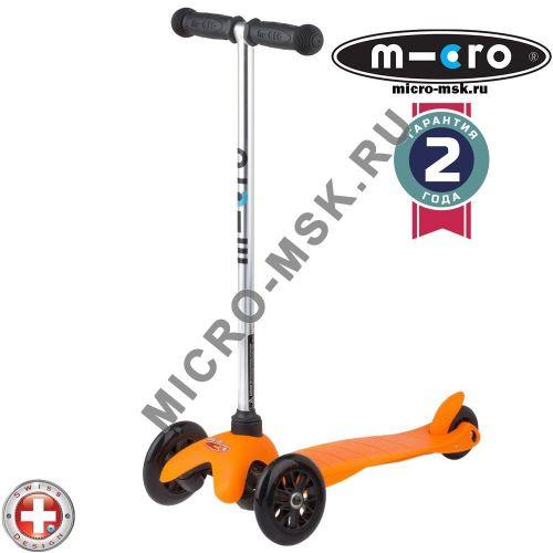 Самокат трехколесный Mini Micro Sporty orange (Мини Микро Спорти оранжевый)