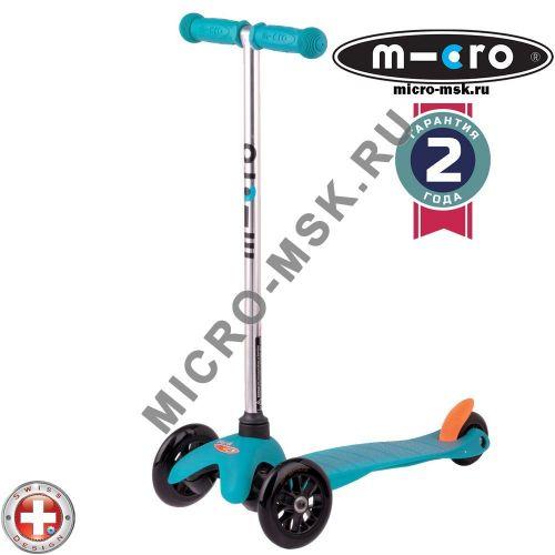 Самокат трехколесный Mini Micro Sporty aqua (Мини Микро Спорти аква)