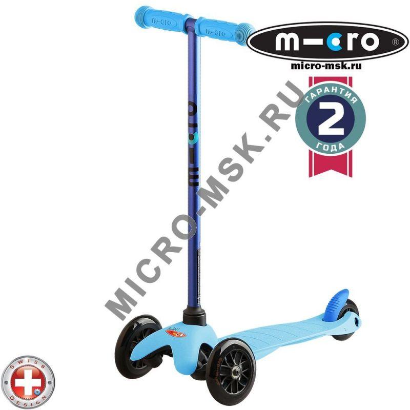 Самокат трехколесный Mini Micro Sporty Candy blue (Мини Микро Спорти Кэнди синий)