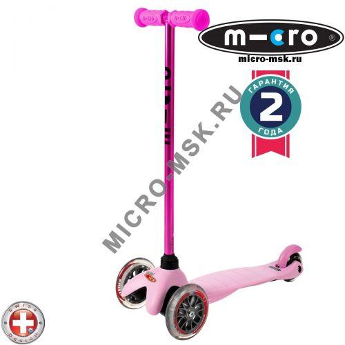 Самокат трехколесный Mini Micro Candy pink (Мини Микро Кэнди розовый)