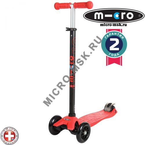 Самокат трехколесный Maxi Micro T-tube red (Макси Микро Т-тьюб красный)
