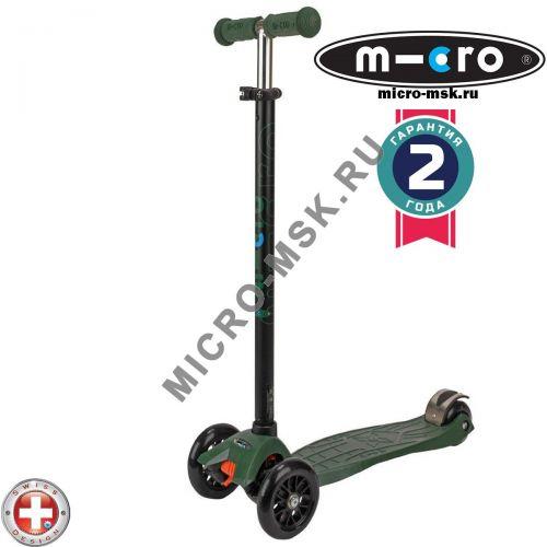 Самокат трехколесный Maxi Micro T-tube camo green (Макси Микро Т-тьюб камуфляж)