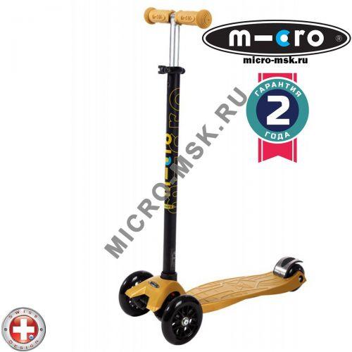 Самокат трехколесный Maxi Micro T-tube gold (Макси Микро Т-тьюб золотой)