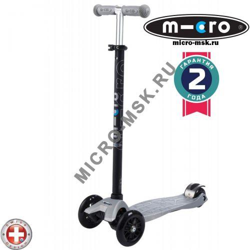 Самокат трехколесный Maxi Micro T-tube silver (Макси Микро Т-тьюб серебряный)