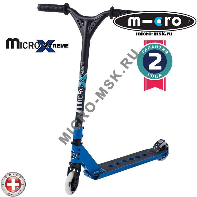 Трюковой самокат Micro MX Trixx blue