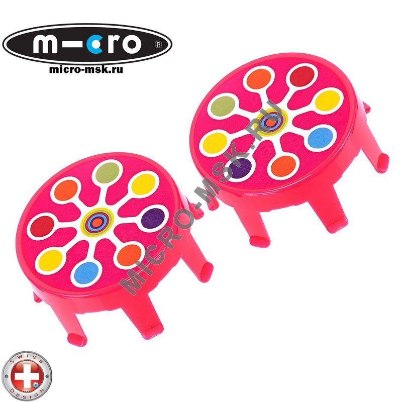 Накладки на колеса Micro pink neon dot
