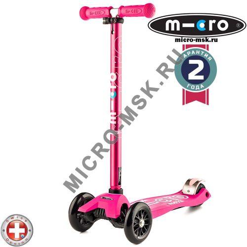 Самокат трехколесный Maxi Micro Deluxe pink (Макси Микро Делюкс розовый)