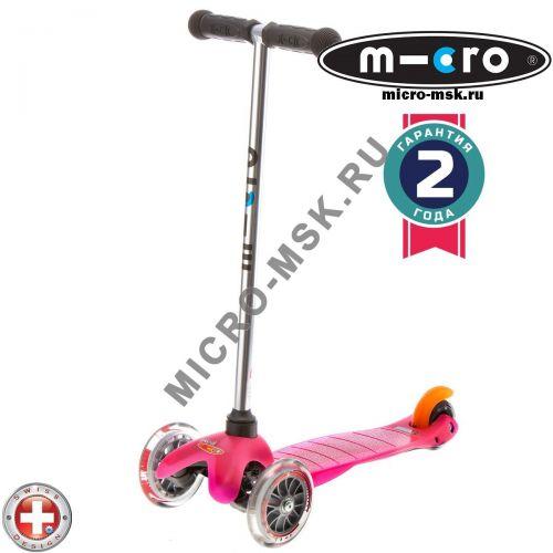 Самокат трехколесный Mini Micro pink (Mини Микро розовый)