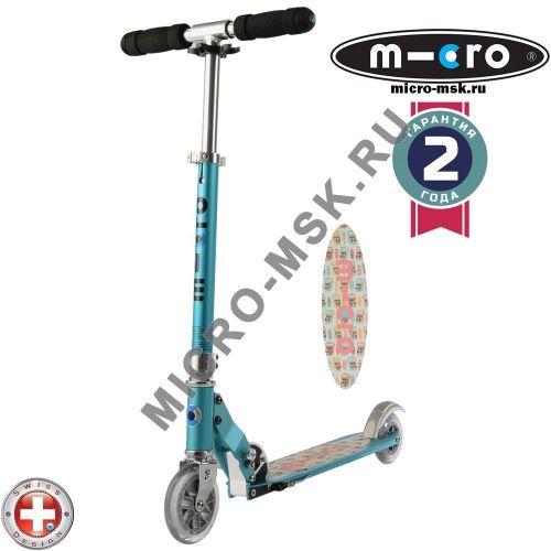 Самокат Micro scooter Sprite teal Owl (Микро скутер Спрайт бирюзовый сова)
