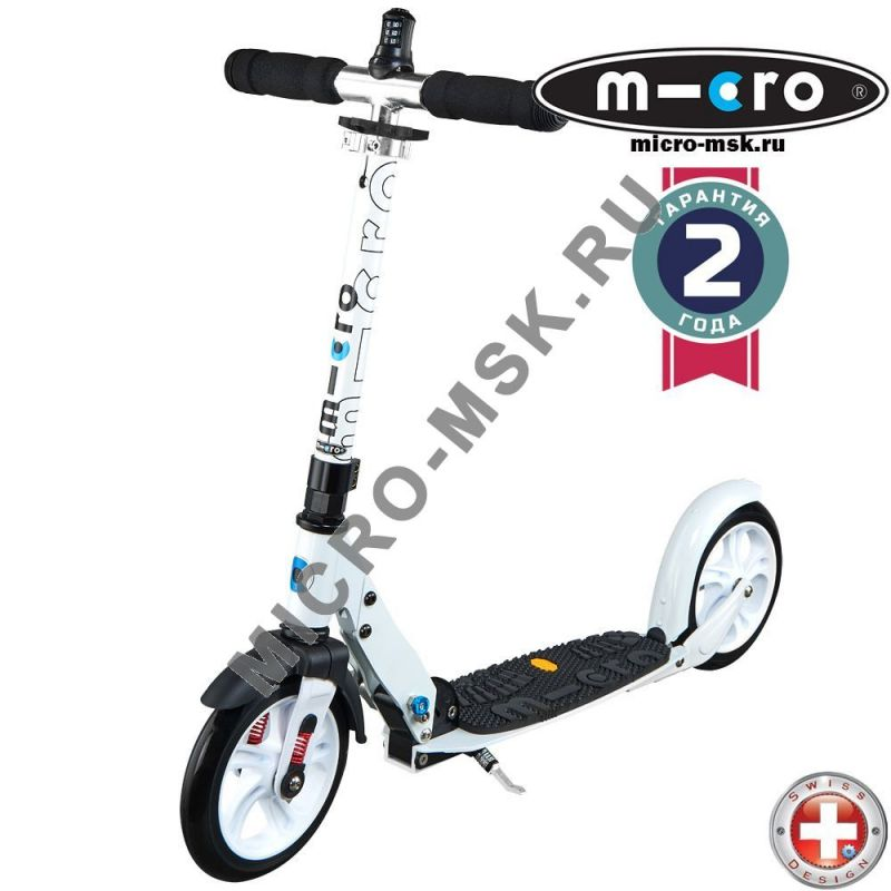 Самокат Micro scooter White Deluxe (Микро скутер Уайт Делюкс)