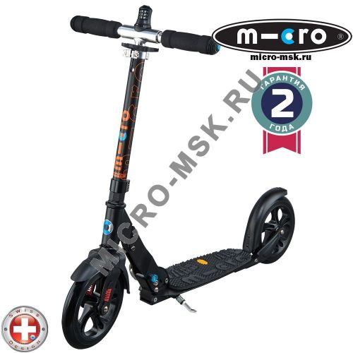 Самокат Micro scooter Black Deluxe (Микро скутер Делюкс Блэк)