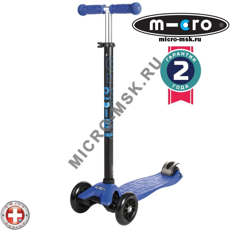 Самокат трехколесный Maxi Micro T-tube blue (Макси Микро Т-тьюб синий)