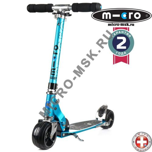 Самокат Micro scooter Rocket sky blue (Микро скутер Рокет синий)