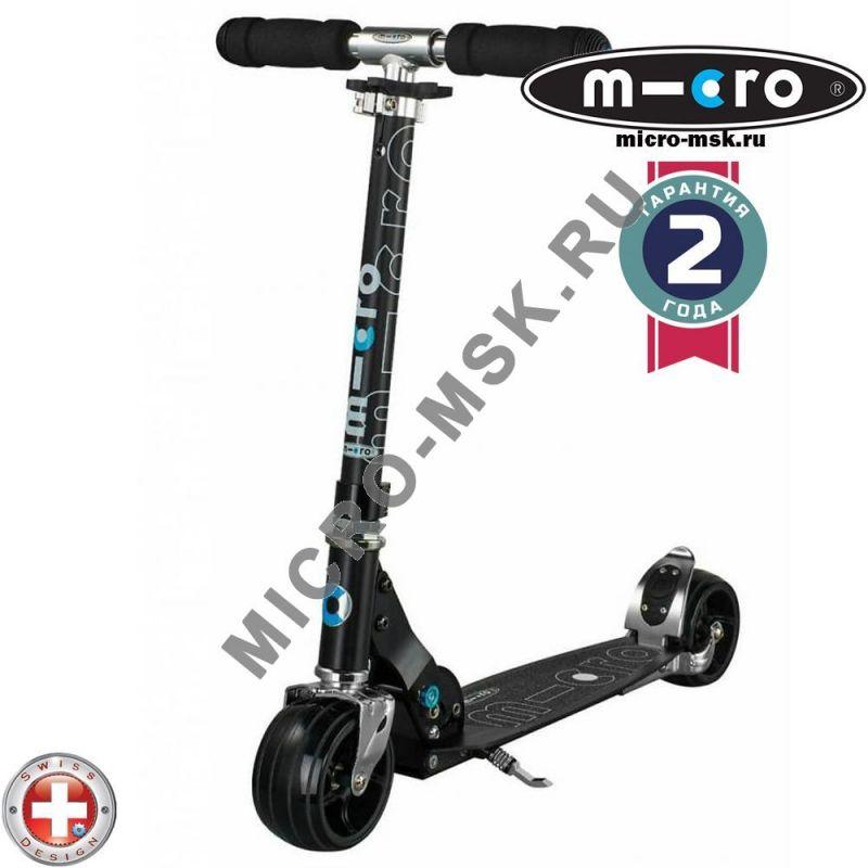Самокат Micro scooter Rocket black (Микро скутер Рокет черный)