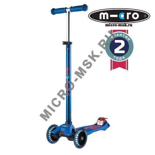 Самокат со светящимися колесами Maxi Micro Deluxe LED blue